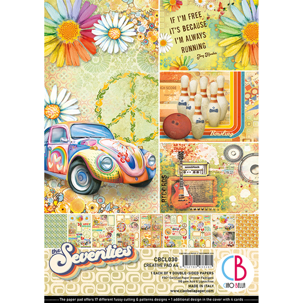 Ciao Bella - A4 Creative Pack 8/Pkg Double-Sided - The Seventies (CBCL030)