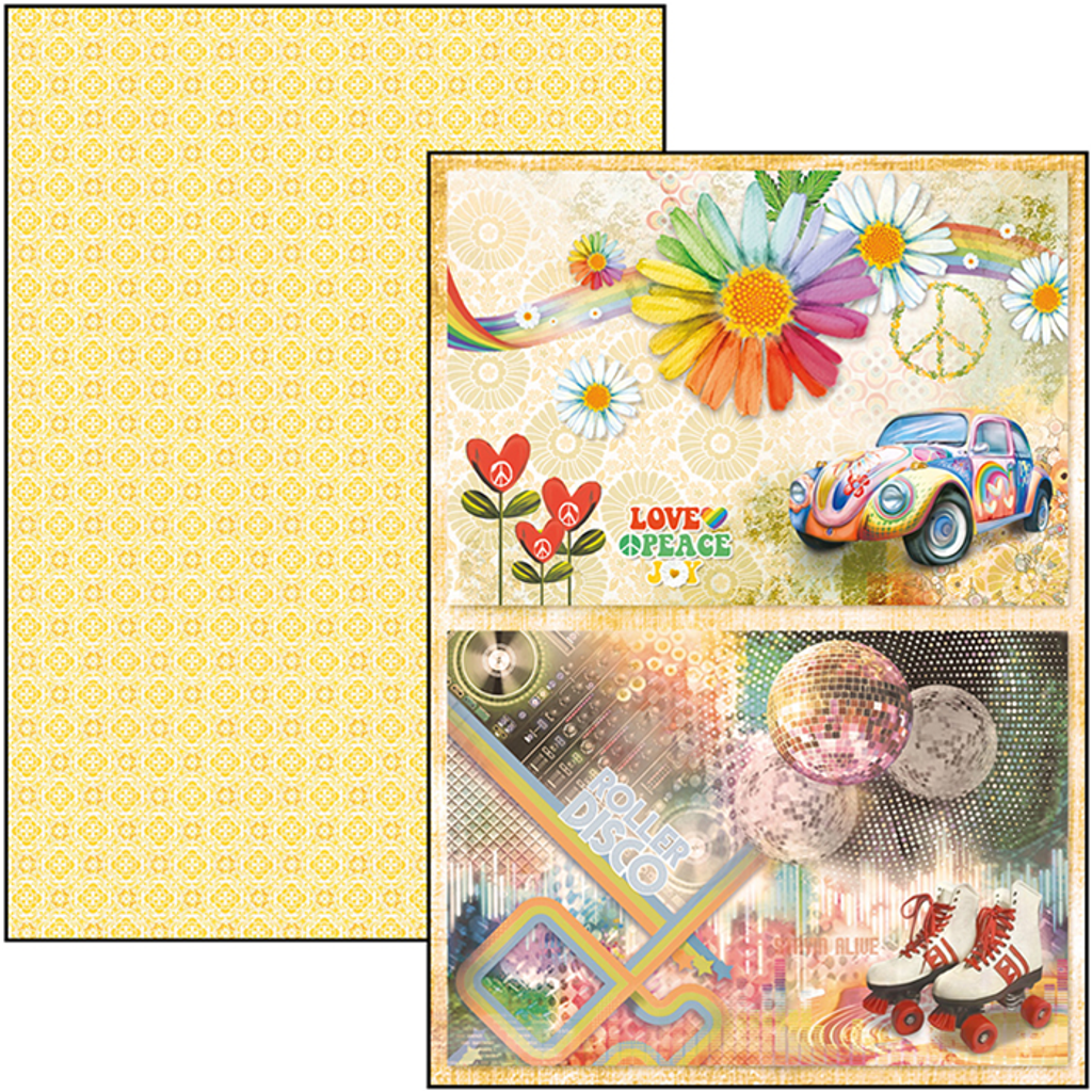 Ciao Bella - A4 Creative Pack 9/Pkg Double-Sided - The Seventies (CBCL030)