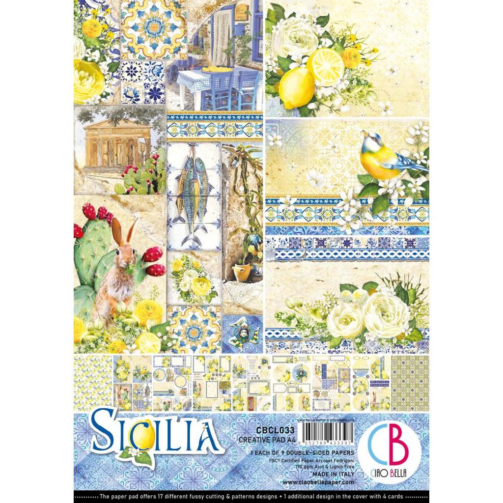 Ciao Bella - A4 Creative Pack 9/Pkg Double-Sided - Sicilia (CBCL033)