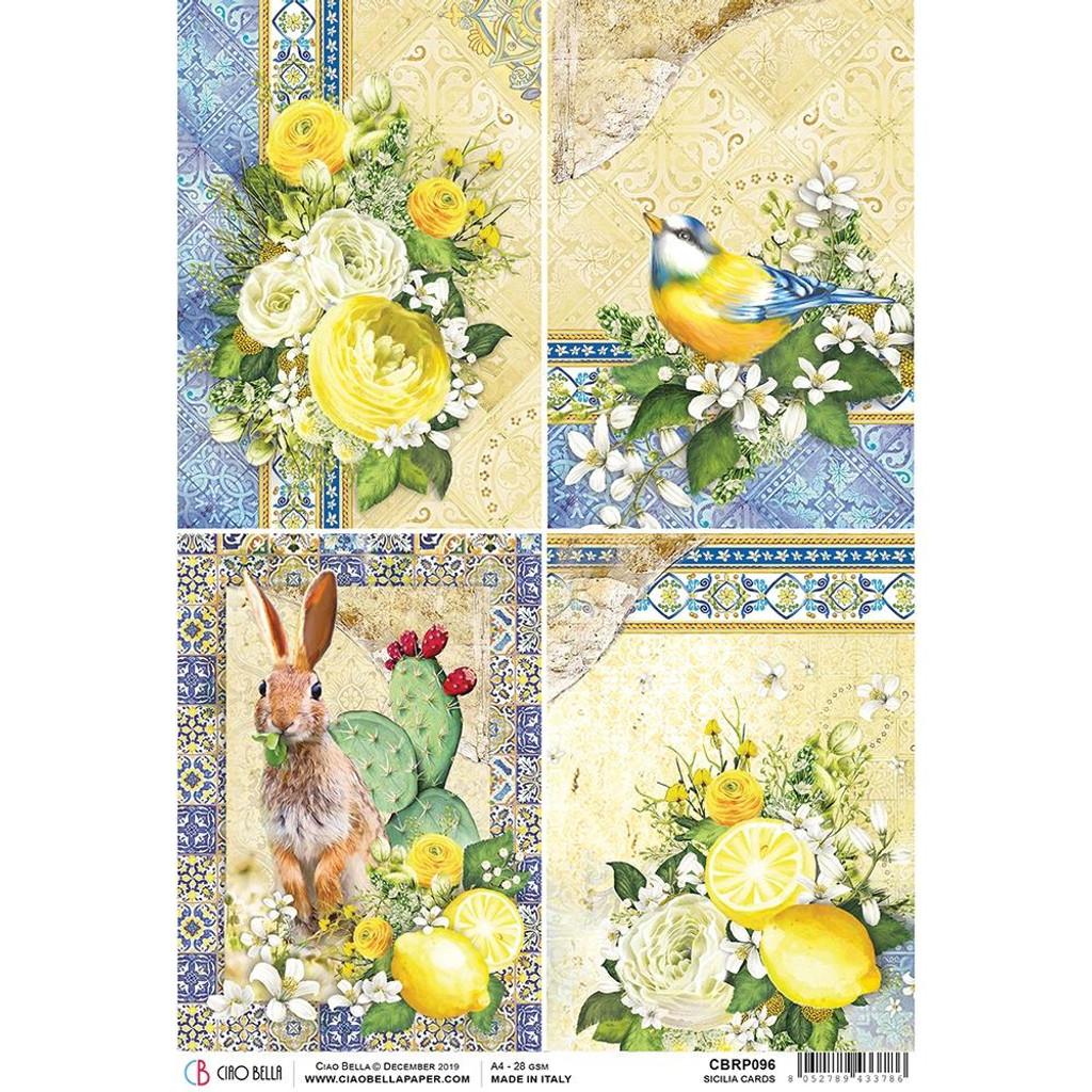 Ciao Bella - Decoupage Rice Paper Sheet - Sicilia - Cards (CBRP096)