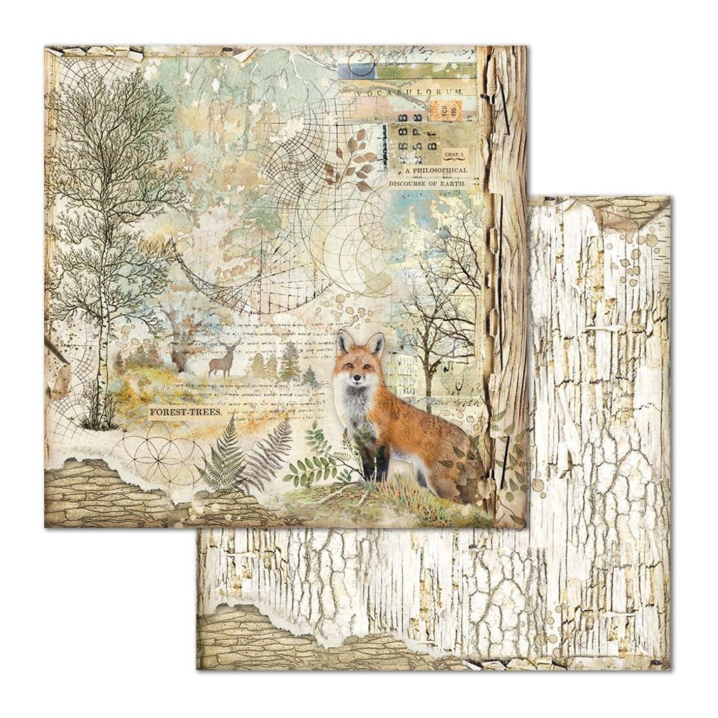 Stamperia - Double-Sided Cardstock 12x12 - Fox (SBB656)