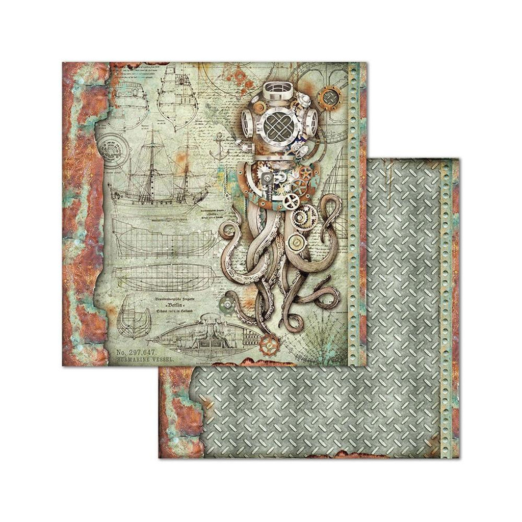 Stamperia - Double-Sided Cardstock Collection 8x8 - Sea World (SBBS13)