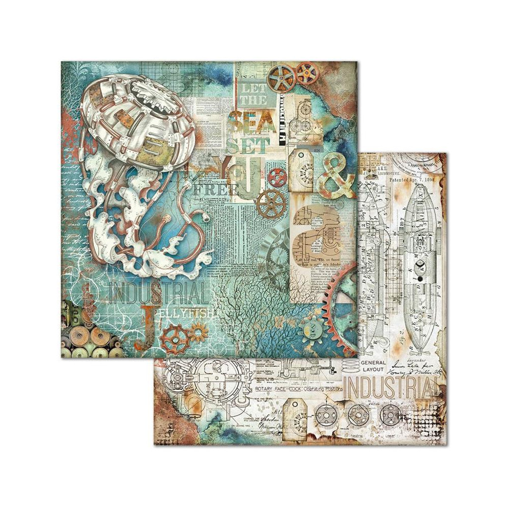 Stamperia - Double-Sided Cardstock 12x12- Sea World - Medusa (SBB662)