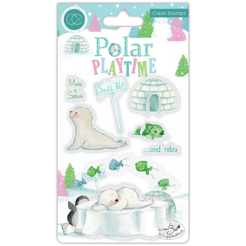 Craft Consortium - Clear Stamps - Polar Playtime - Make A Splash (CSTMP021)