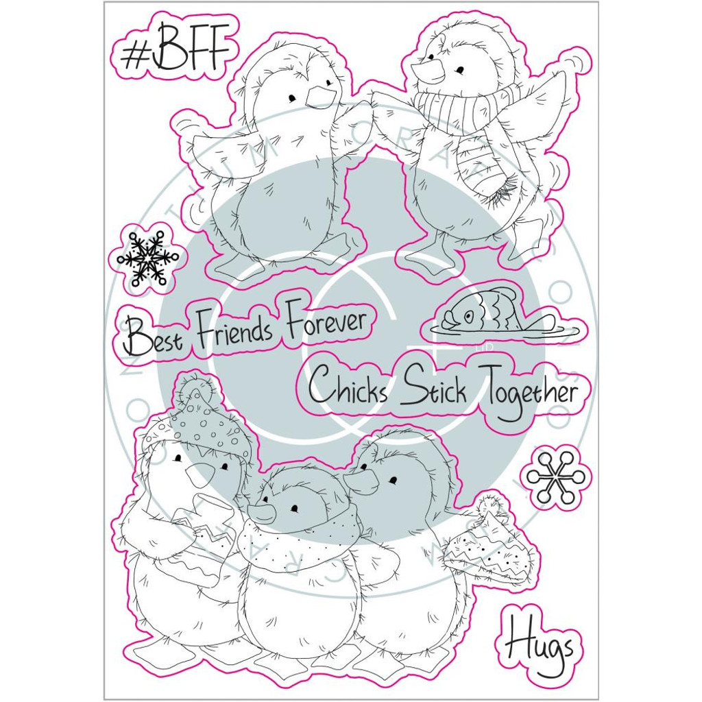 Craft Consortium - Clear Stamps - Polar Playtime - BFF (CSTMP022)
