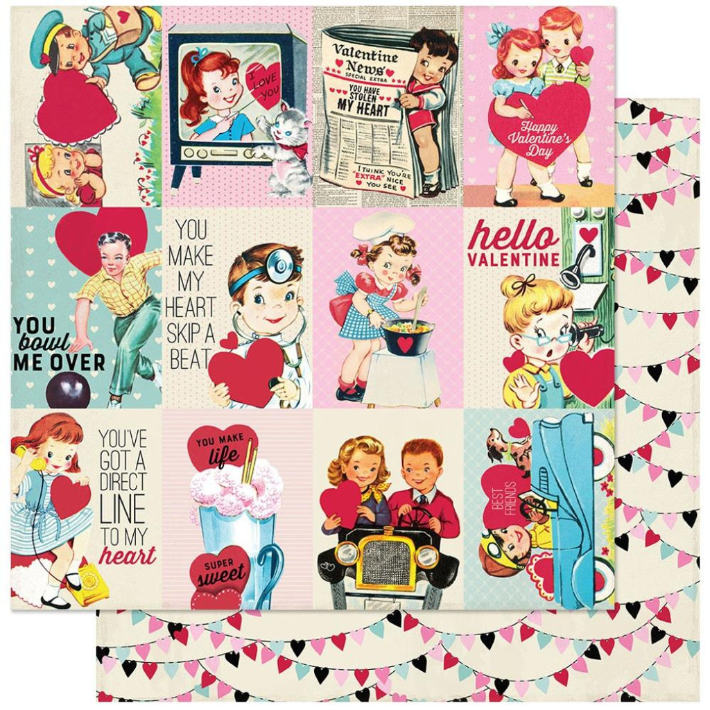 Authentique - Double Sided Cardstock 12x12- Love Notes - #7 (LVN12 - 007)