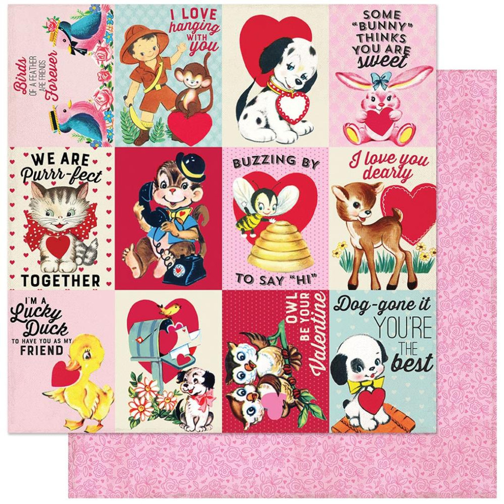 Authentique - Double Sided Cardstock 12x12- Love Notes - #8 ( LVN12 - 008)