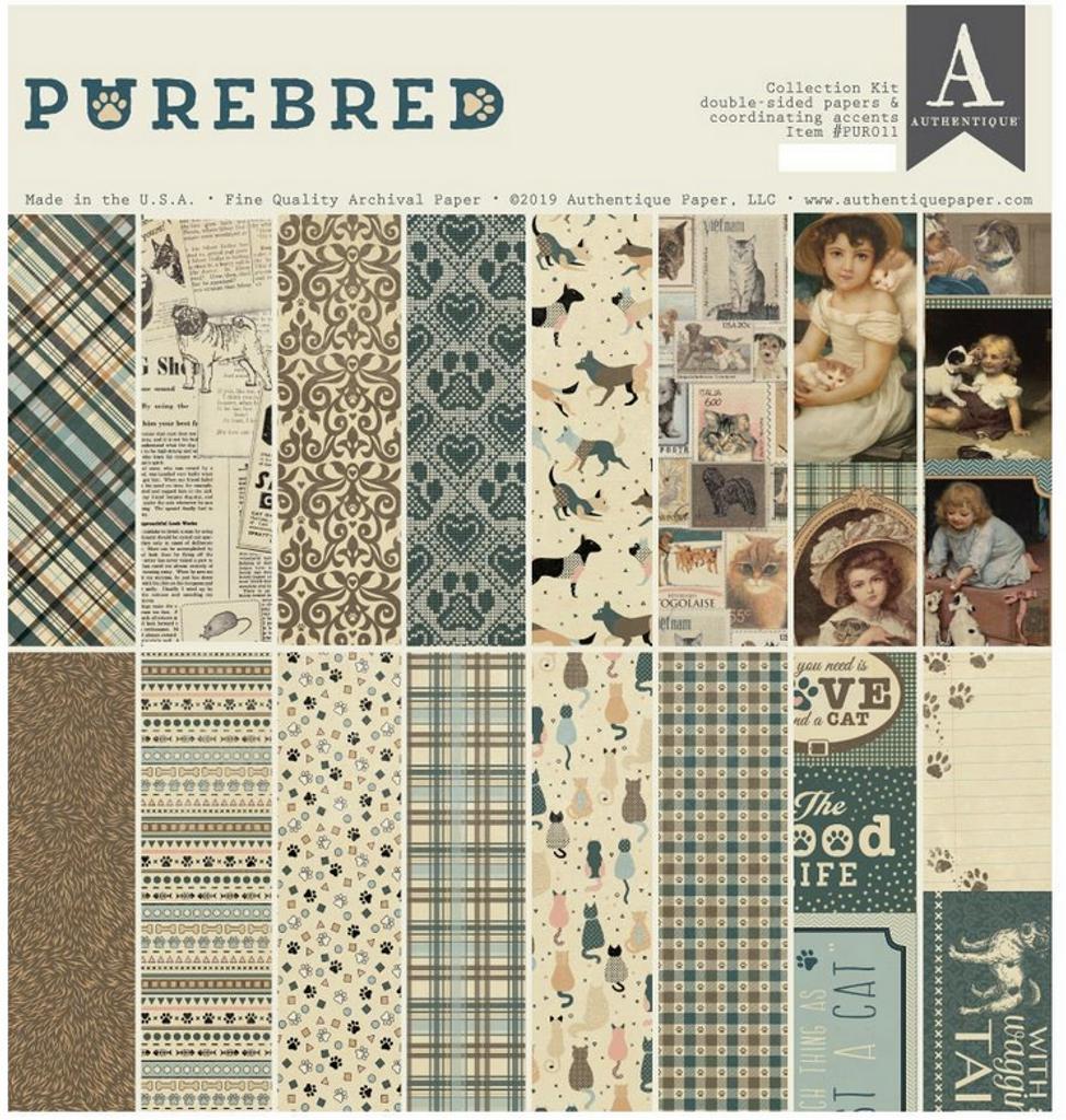Authentique - Paper Collection Kit 12x12 - Purebred (PUR011)