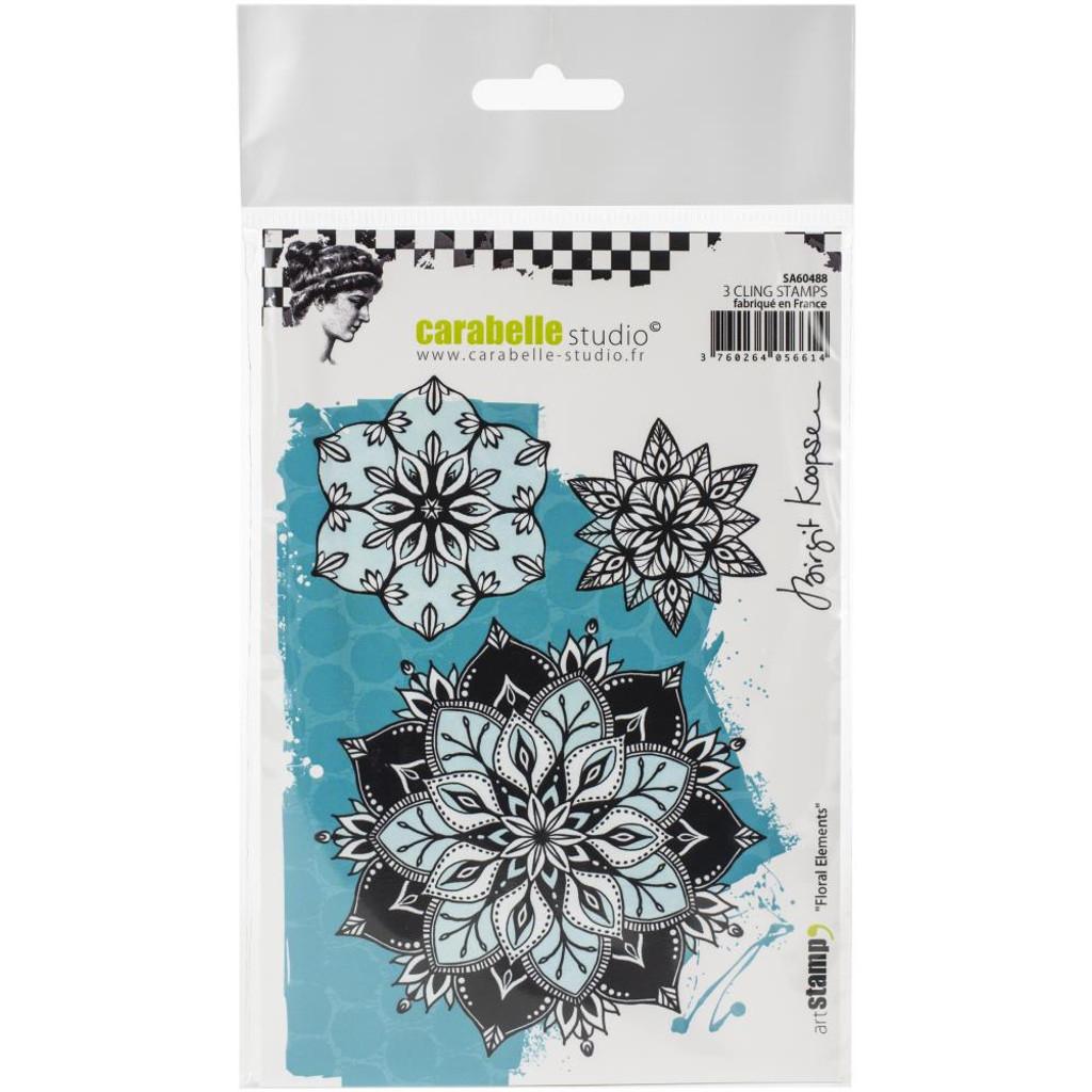Carabelle Studio - Cling Stamp A6 By Birgit Koopsen -Floral Elements (SA60488)