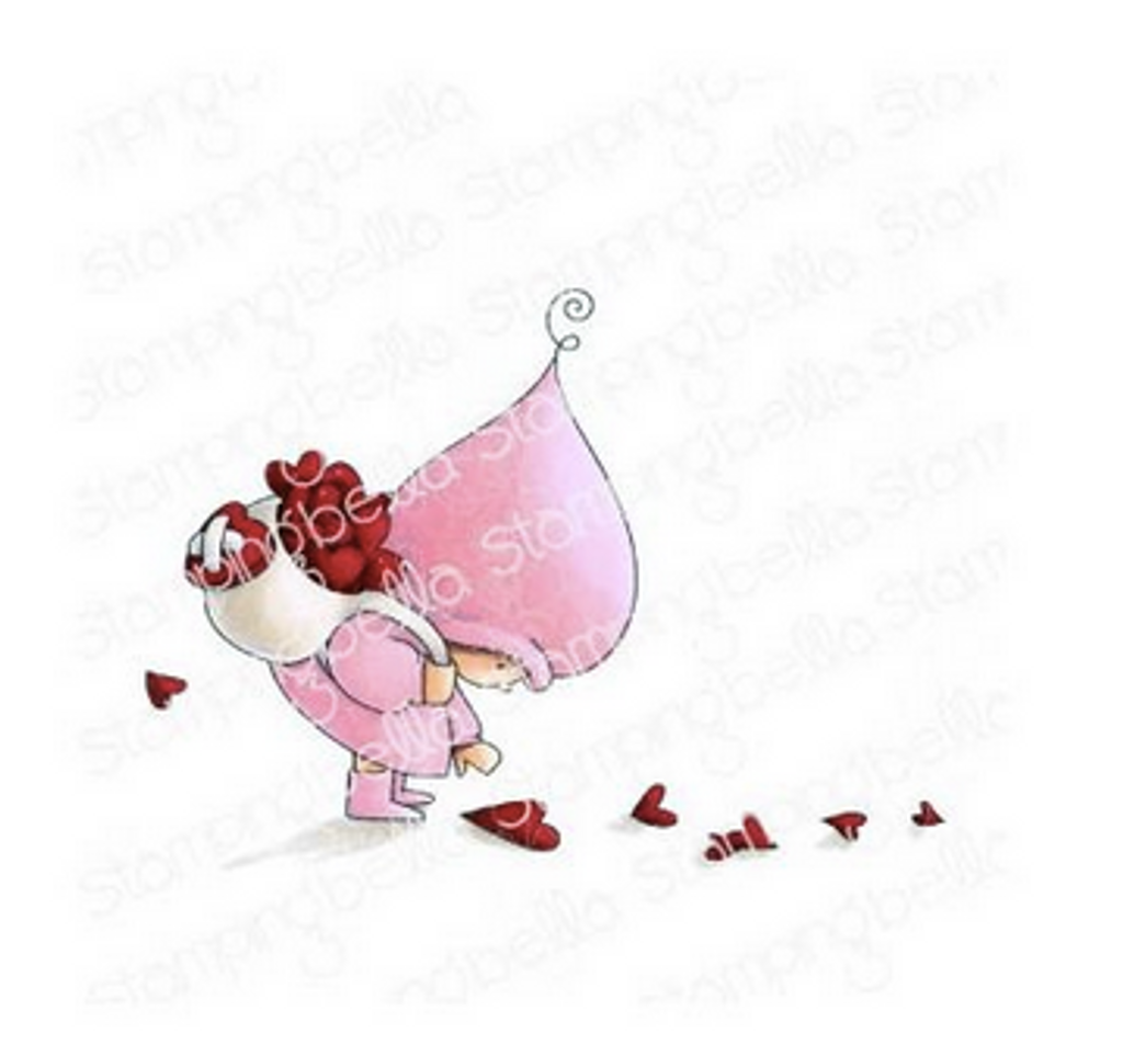 Stamping Bella - Cling Stamps - Bundle Girl With A Heart Trail (EB915)