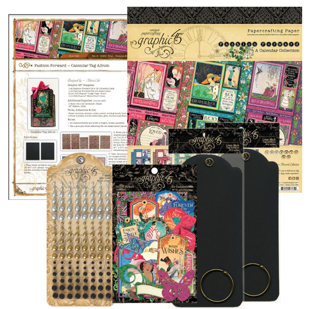 Graphic 45 - Club G45 Vol 2 February 2020 - Fashion Forward - Project Kit (Club G45 Vo2 2020/Project)