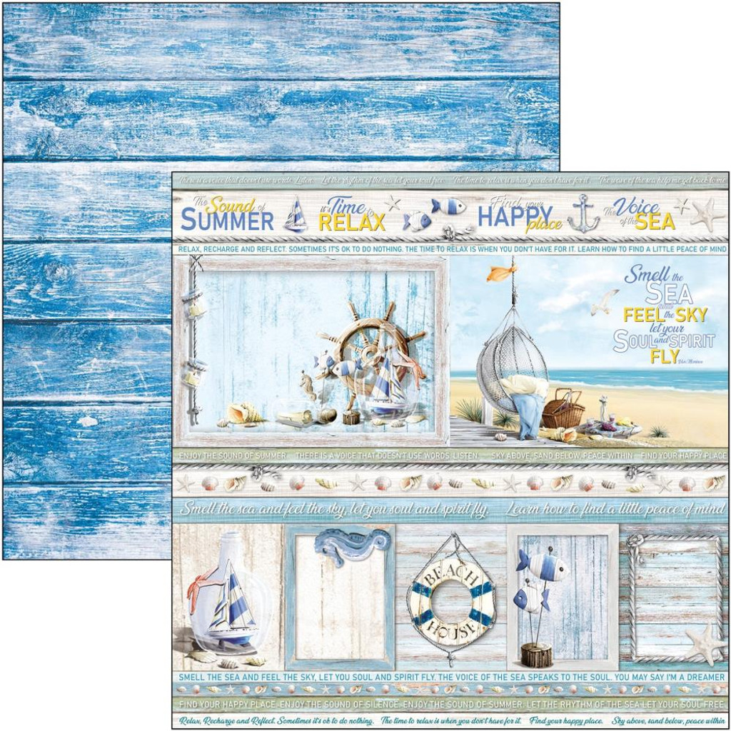 Ciao Bella - 12x12 Double-Sided Cardstock - Sound of Summer - Summer Cards (CBSS111)