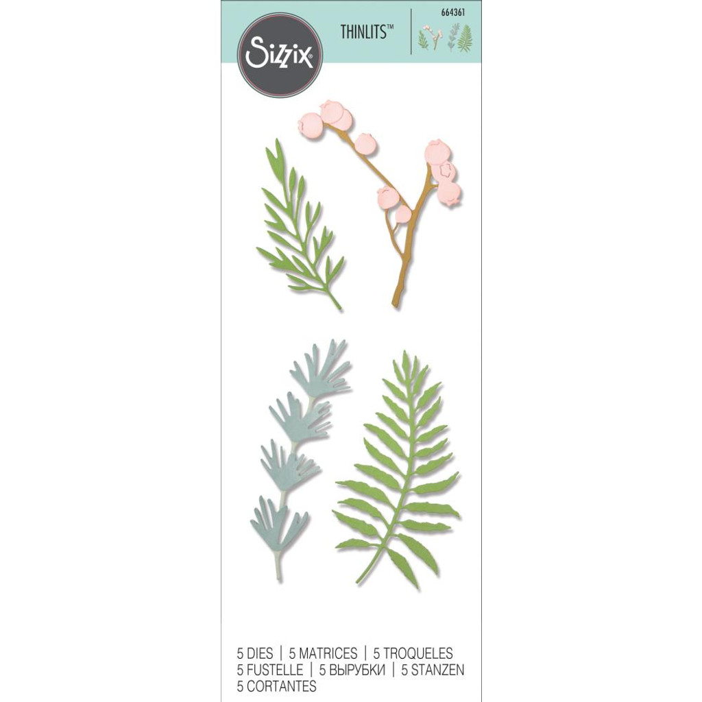 Sizzix - Thinlits Dies 5/Pkg - Natural Leaves (664361)