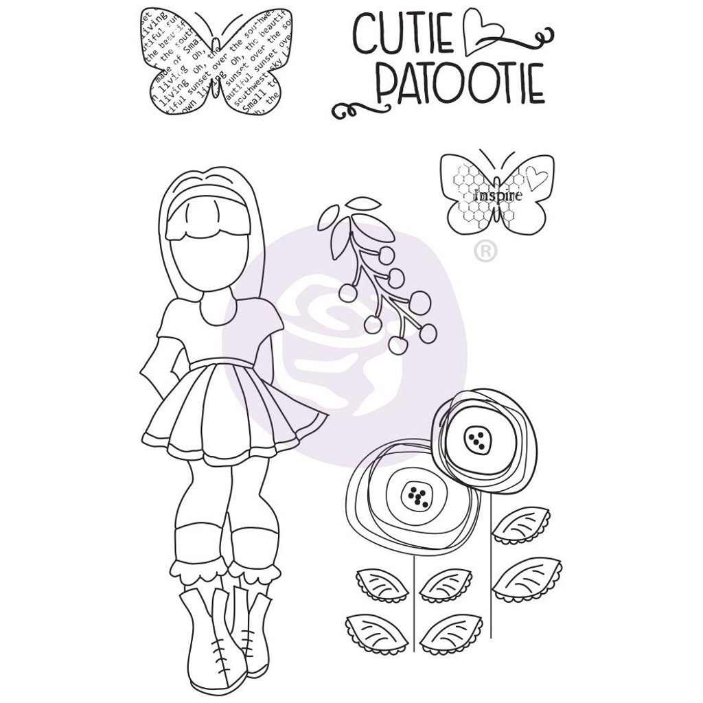 Prima - Julie Nutting - Mixed Media Cling Rubber Stamp - Ivy (913045)