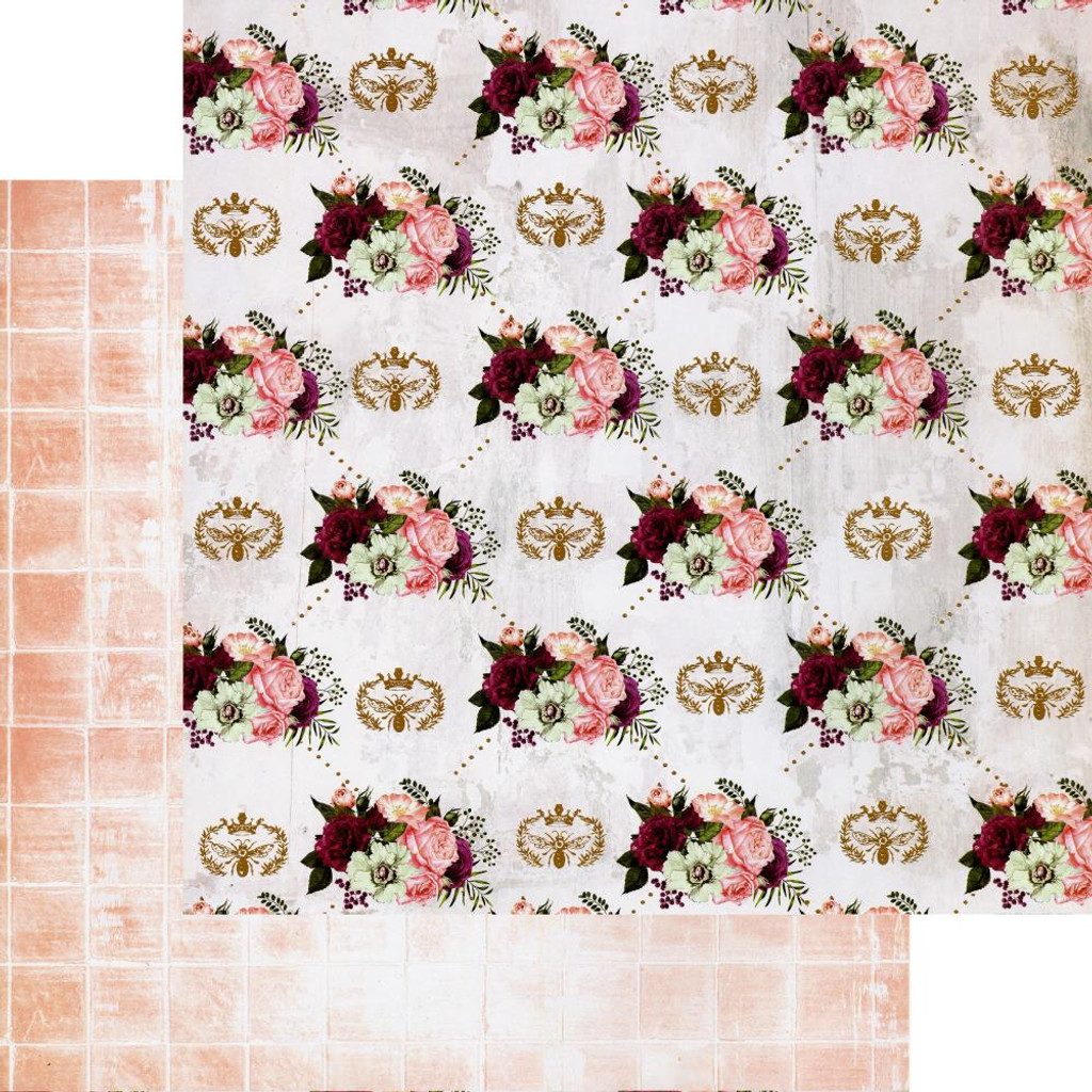 Prima - Double-Sided Cardstock 12x12 - Pretty Mosaic - Queen Bee (PRMO12 49320)