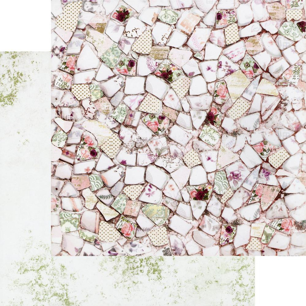 Prima - Double-Sided Cardstock 12x12 - Pretty Mosaic Collection - Pretty Mosaic (PRMO12 49313)