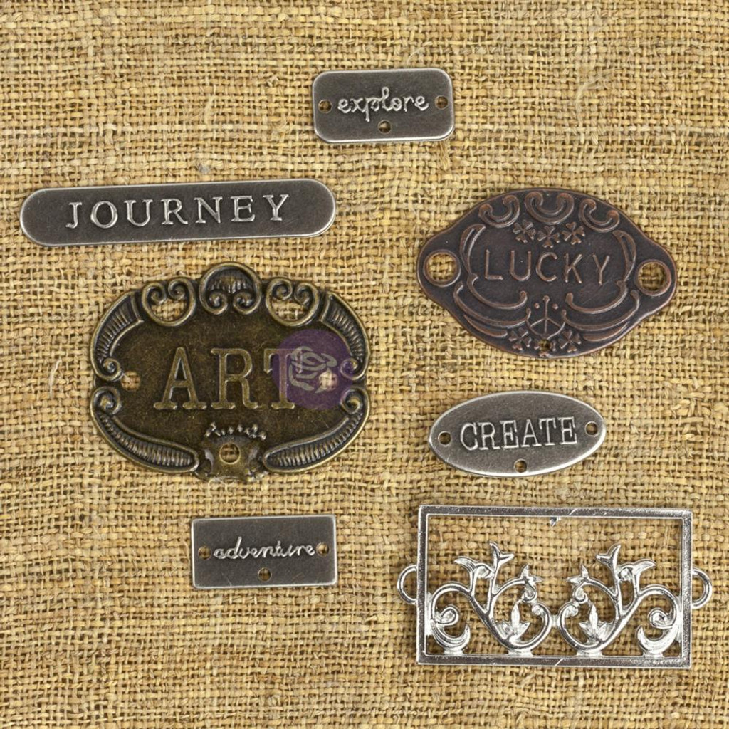 Prima - Mechanicals Metal Embellishments - Plates & Labels (MECH)