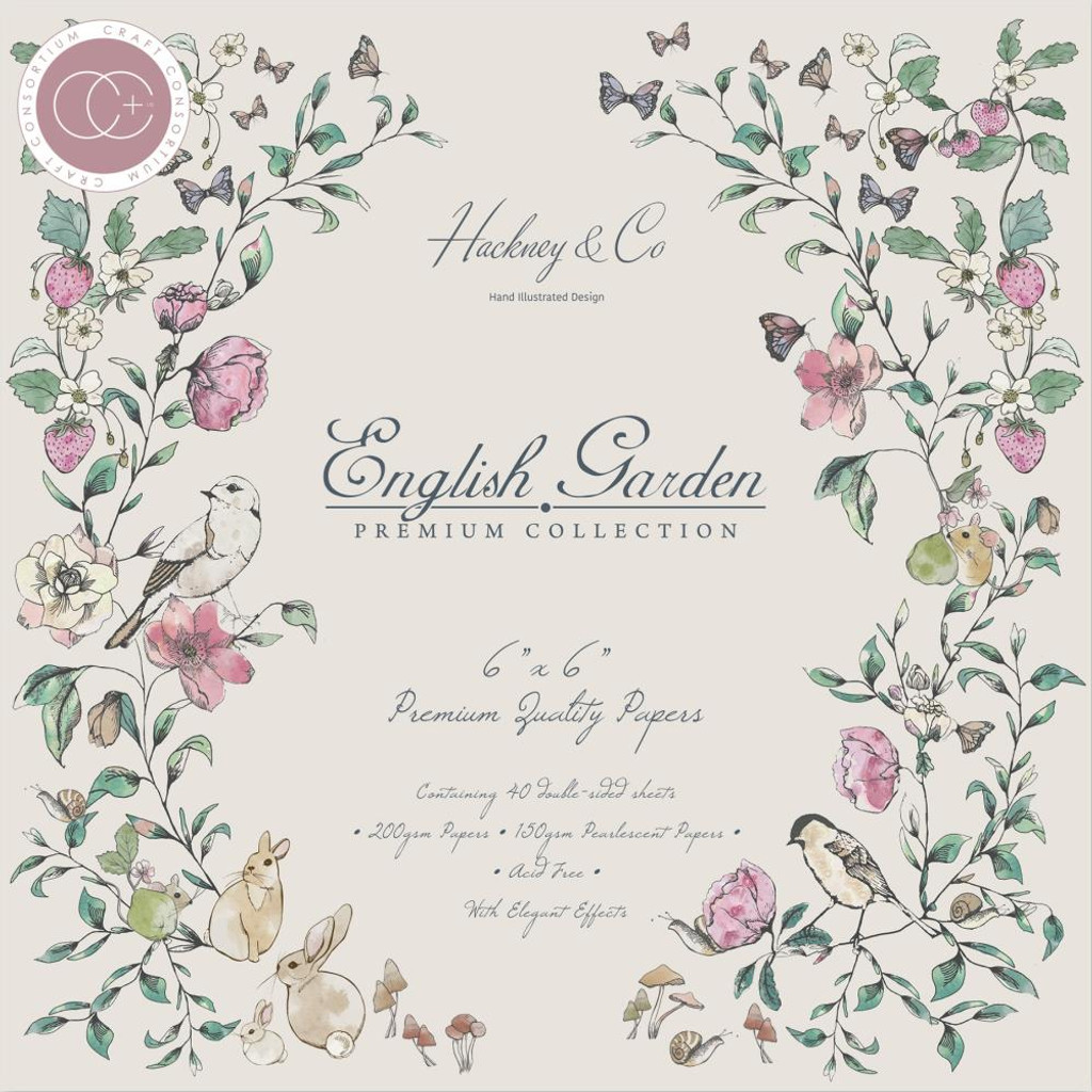 Craft Consortium - Double Sided Paper Pack 6x6 - English Garden (PPAD003B)