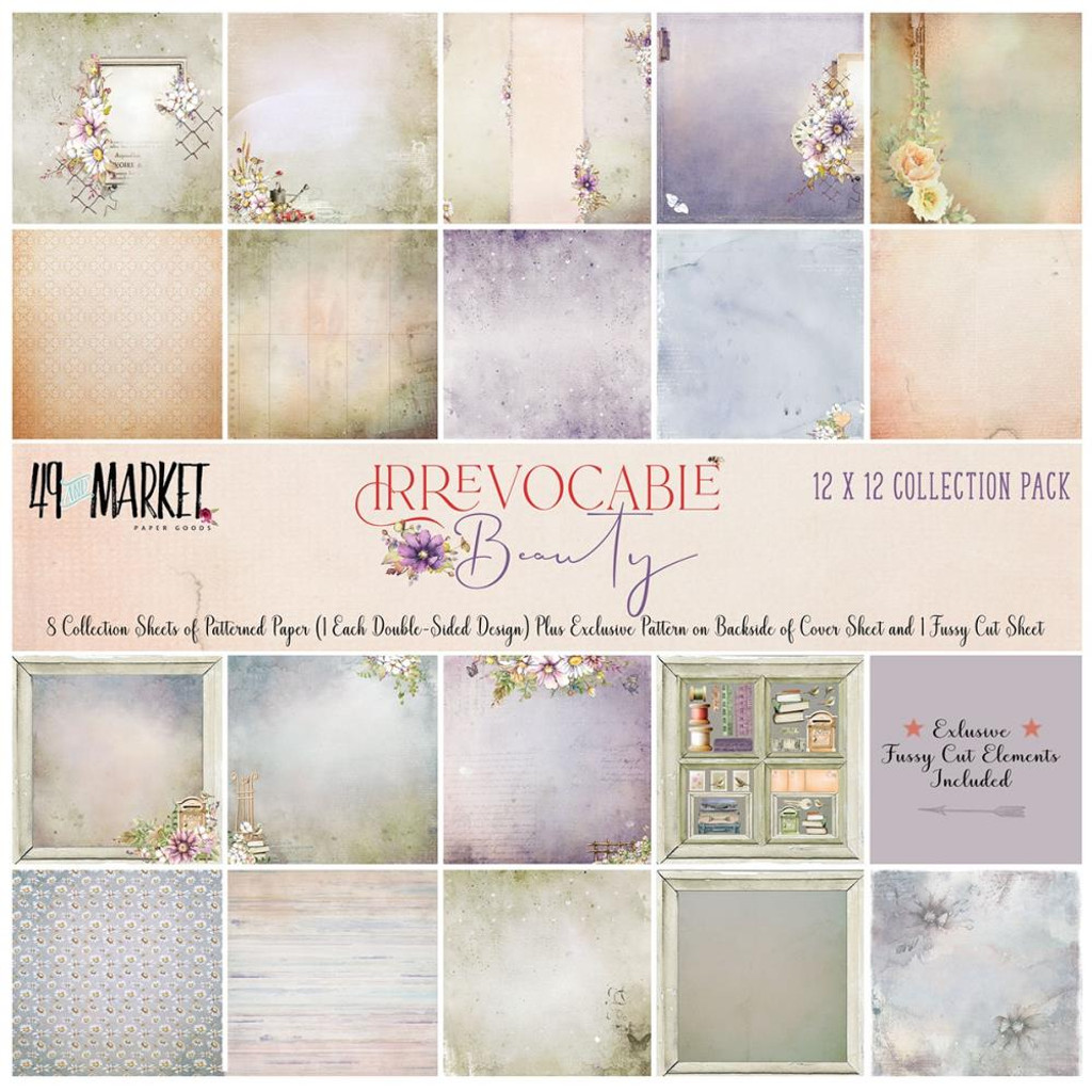 49 and Market - Scrapbooking Paper Pack 12x12 - Irrevocable Beauty Collection (IB31863)