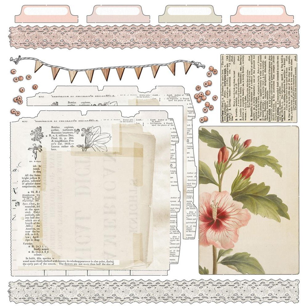 49 and Market - Scrapbooking Paper Pack 12x12 - Vintage Artistry Coral Collection (VAC32242)