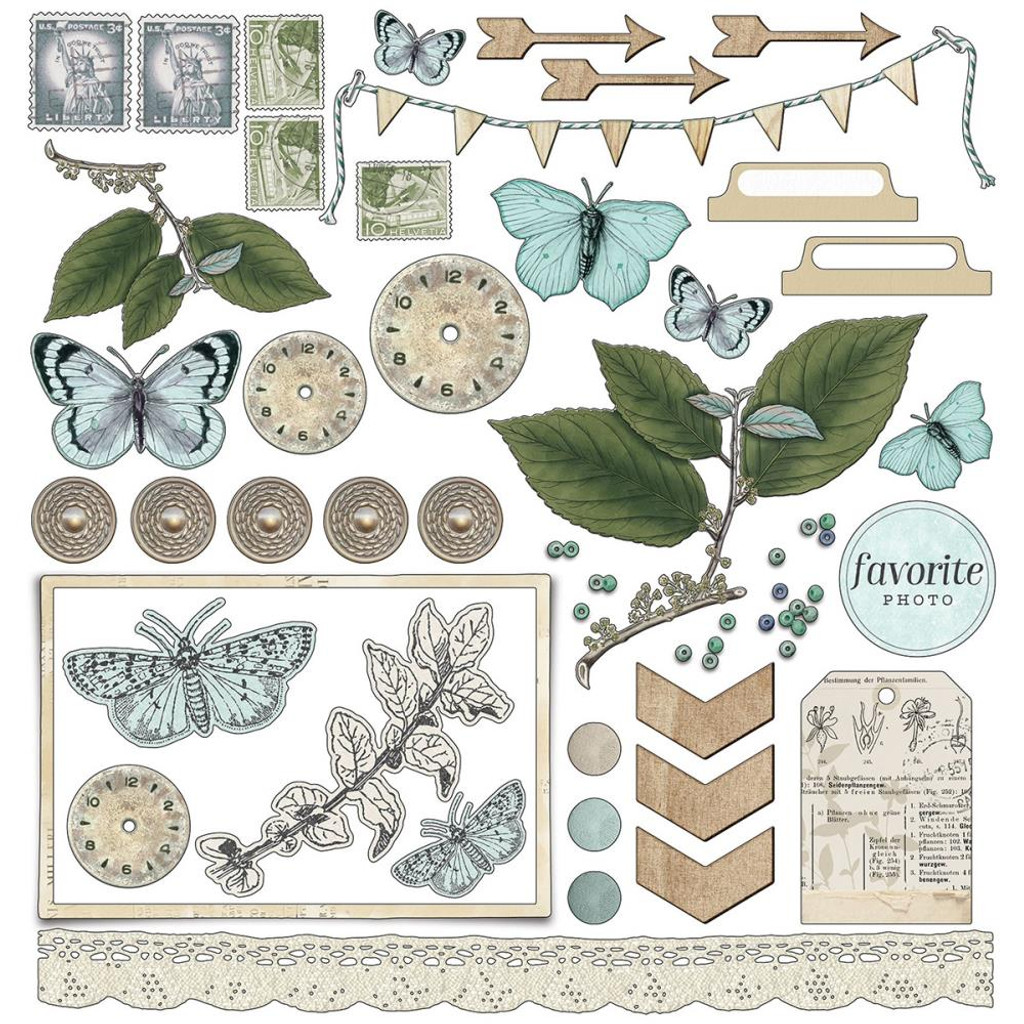 49 and Market - Scrapbooking Paper Pack 12x12 - Vintage Artistry Sky Collection (VAC32082)