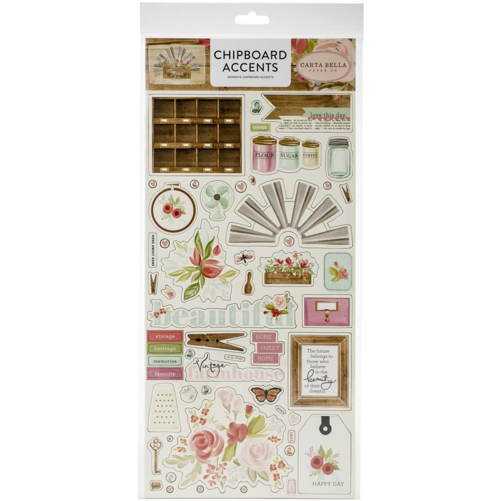 Carta Bella - Chipboard Accents 12x13 - Farmhouse Market (AR113021)