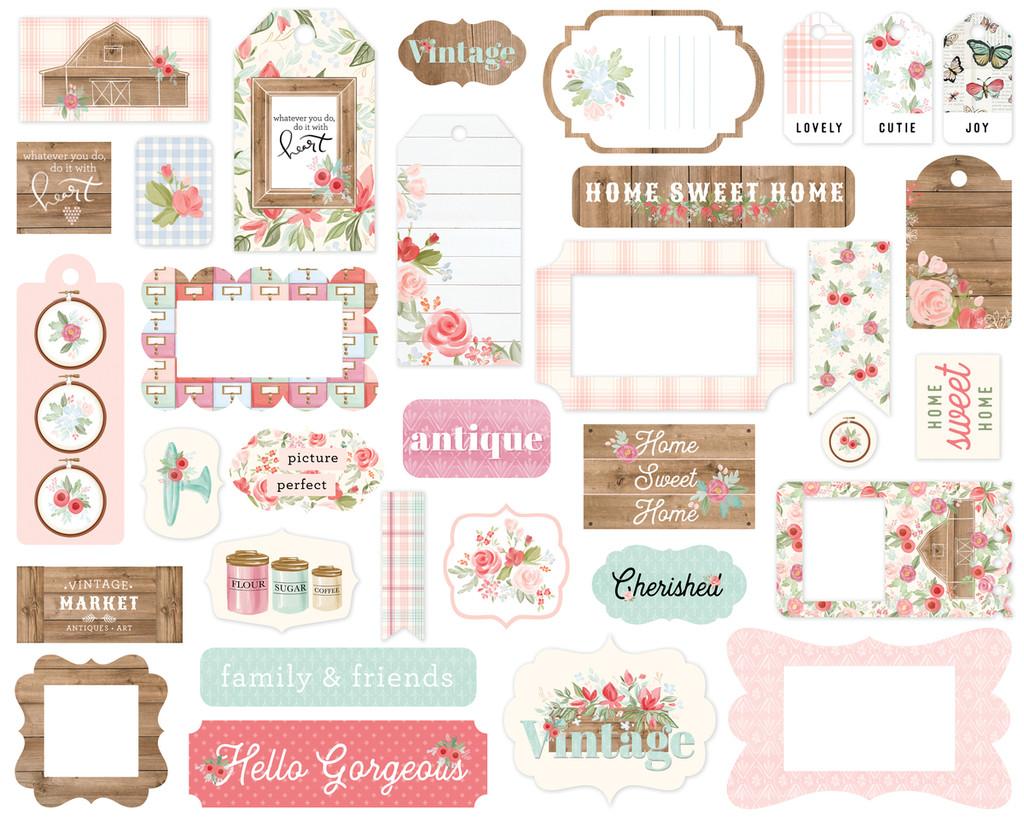 Carta Bella - Frames & Tags 33/Pkg - Farmhouse Market (AR113037)