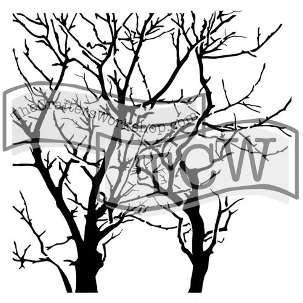 The Crafters Workshop - 6x6 Template Stencil - Mini Branches Reversed (TCW 251s)