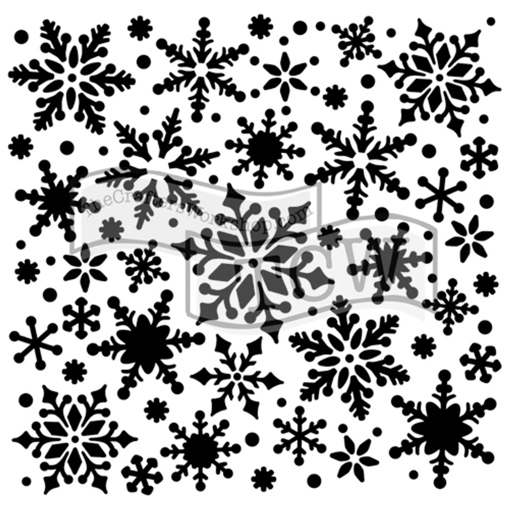 The Crafters Workshop - 6x6 Template Stencil - Mini Snowflakes (TCW 720s)