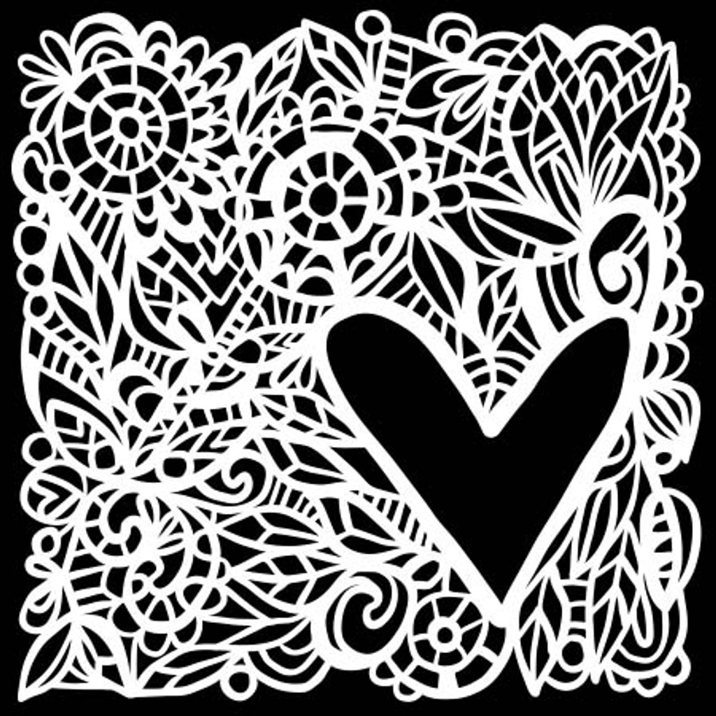 The Crafters Workshop - 6x6 Template Stencil - Love Frame (TCW 825s)