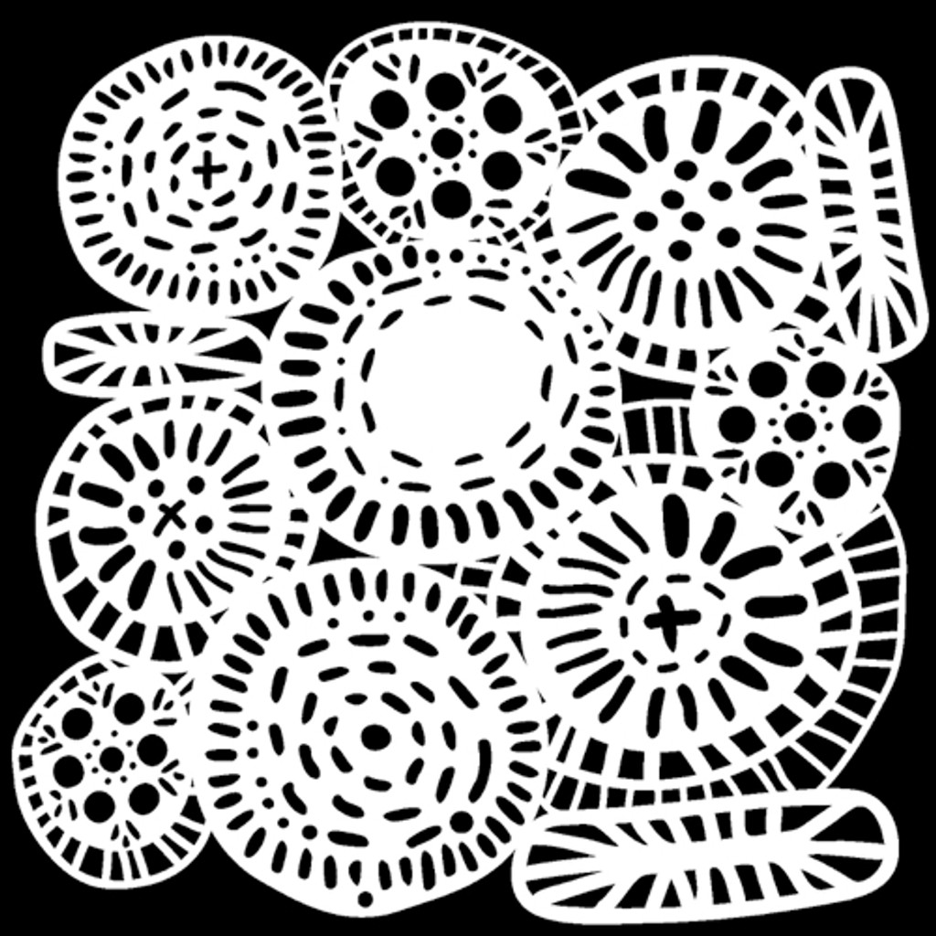 The Crafters Workshop - 6x6 Template Stencil - Circle Jumble (TCW 883s)
