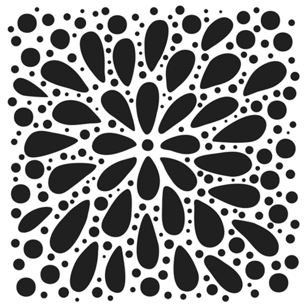 The Crafters Workshop - 6x6 Template Stencil - Explosion (TCW 884s)