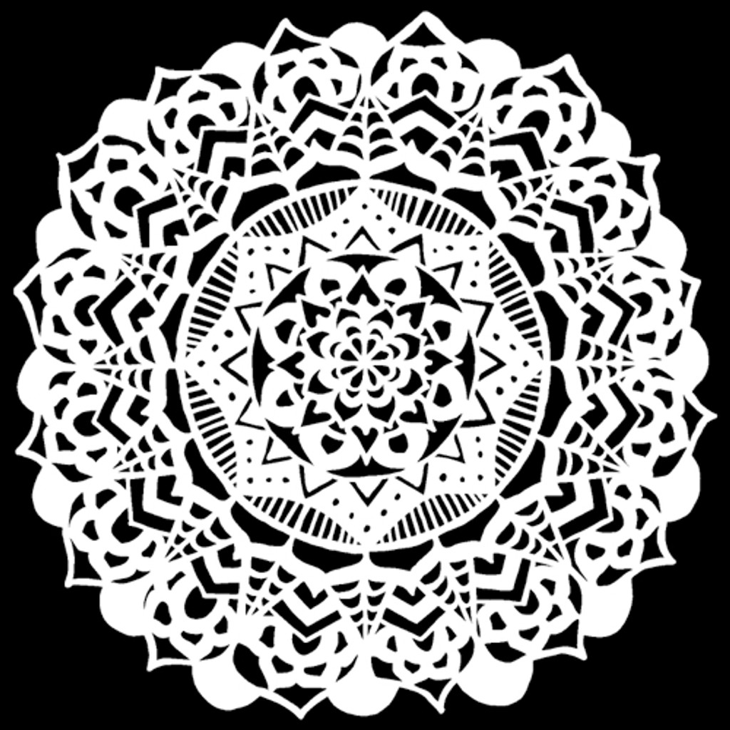 The Crafters Workshop - 12x12 Template Stencil - Fancy Mandala (TCW898)