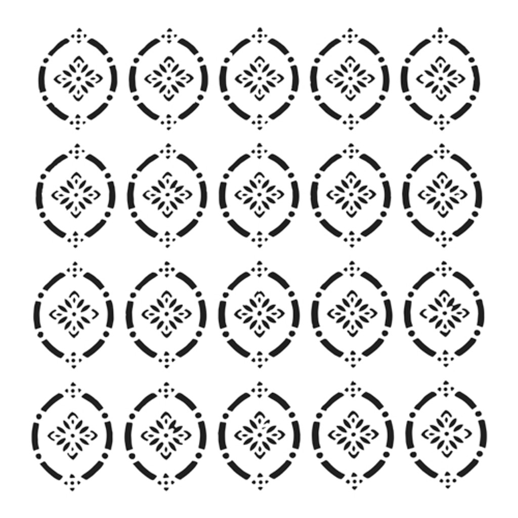 The Crafters Workshop - 12x12 Template Stencil - Pointelle (TCW907)