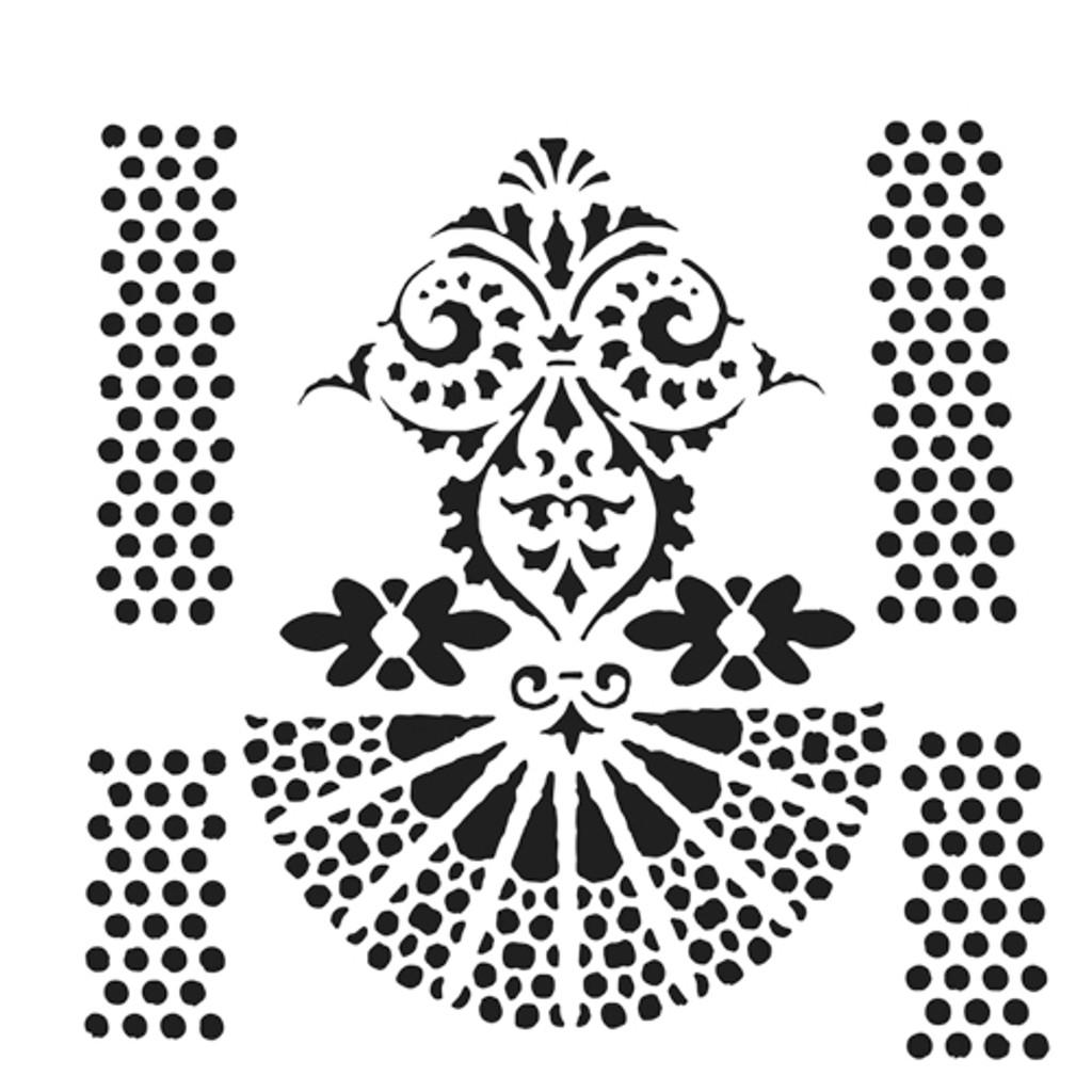 The Crafters Workshop - 12x12 Template Stencil - Quadrangle Fan (TCW909)