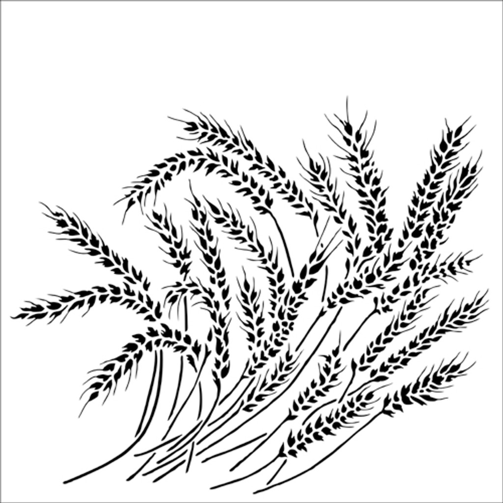 The Crafters Workshop - 12x12 Template Stencil - Wheat Stalks (TCW912)
