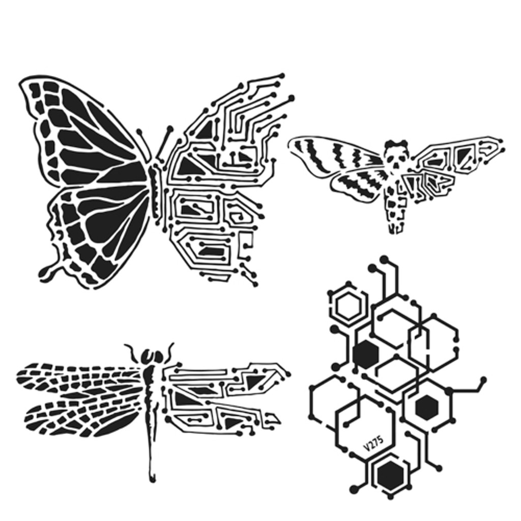 The Crafters Workshop - 12x12 Template Stencil - Nature's Circuitry (TCW925)