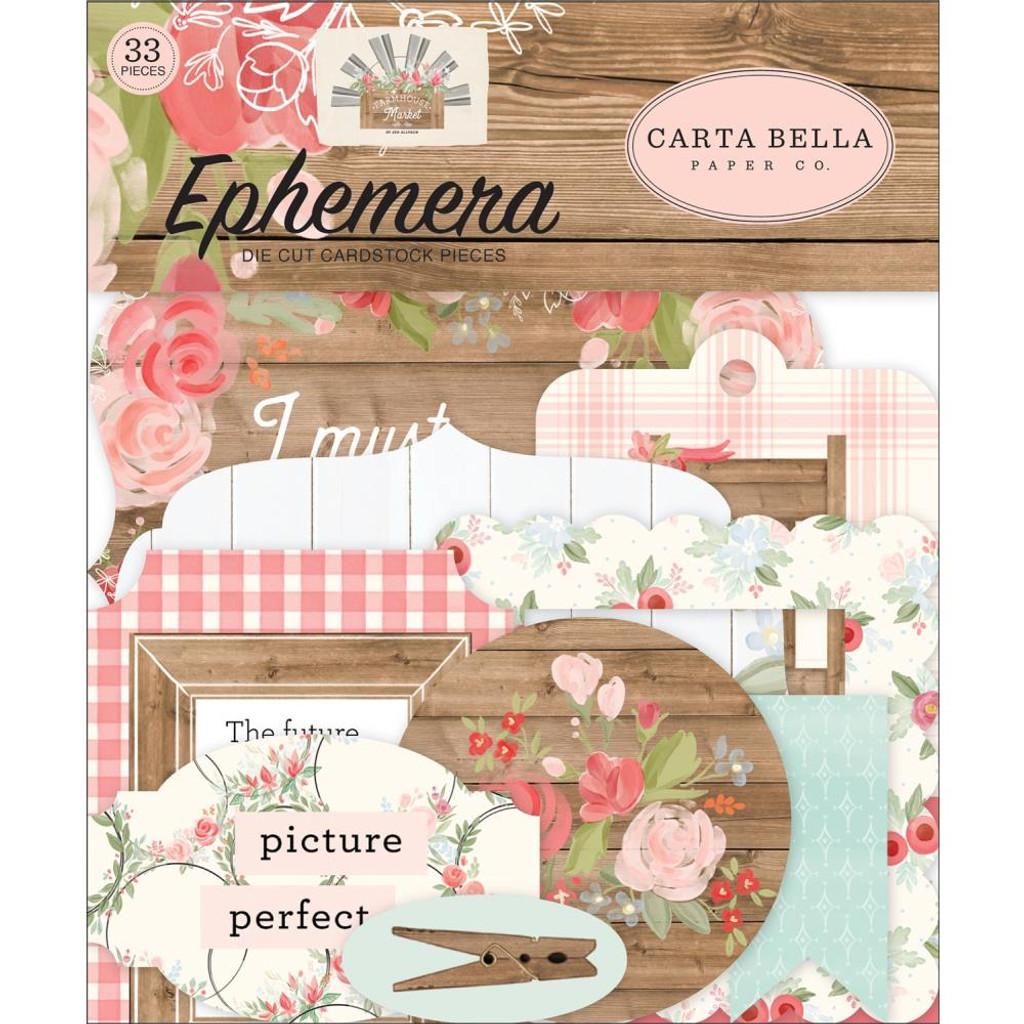 Carta Bella - Ephemera 33/Pkg - Farmhouse Market (AR113024)