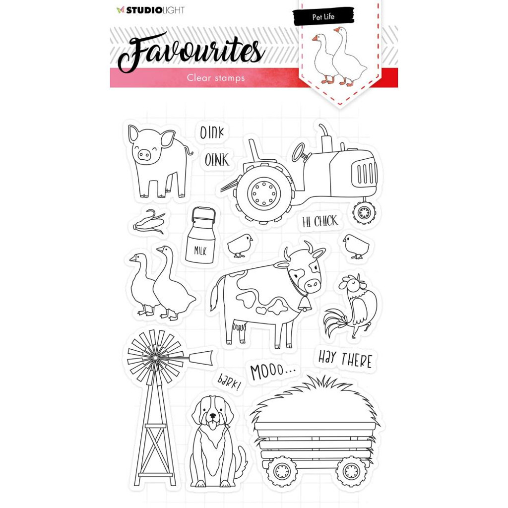 Studio Light - Favourites A5 Stamps - Cling Stamp - Pet Life #424 (STAMP424)