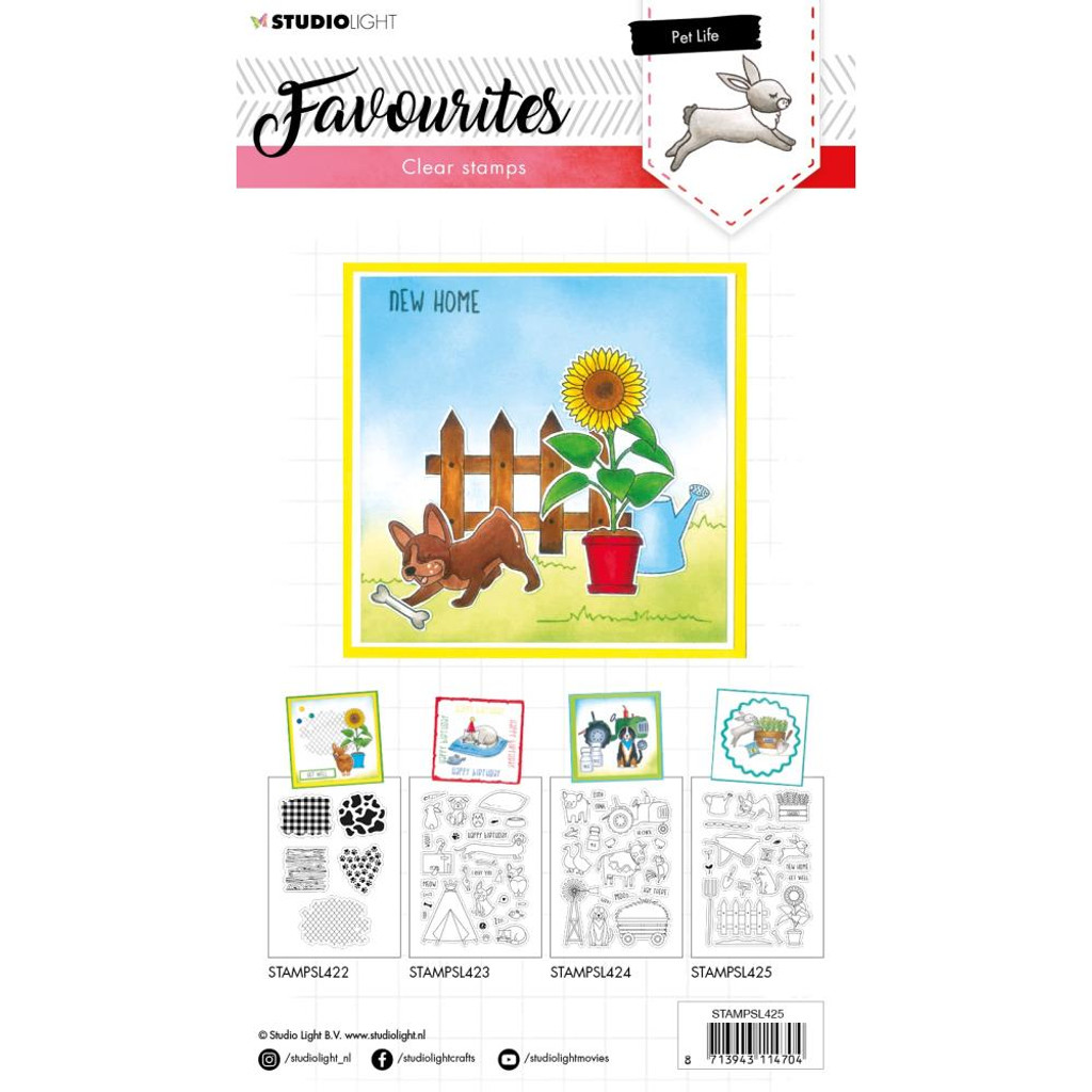 Studio Light - Favourites A5 Stamps - Cling Stamp - Pet Life #425 (STAMP425)