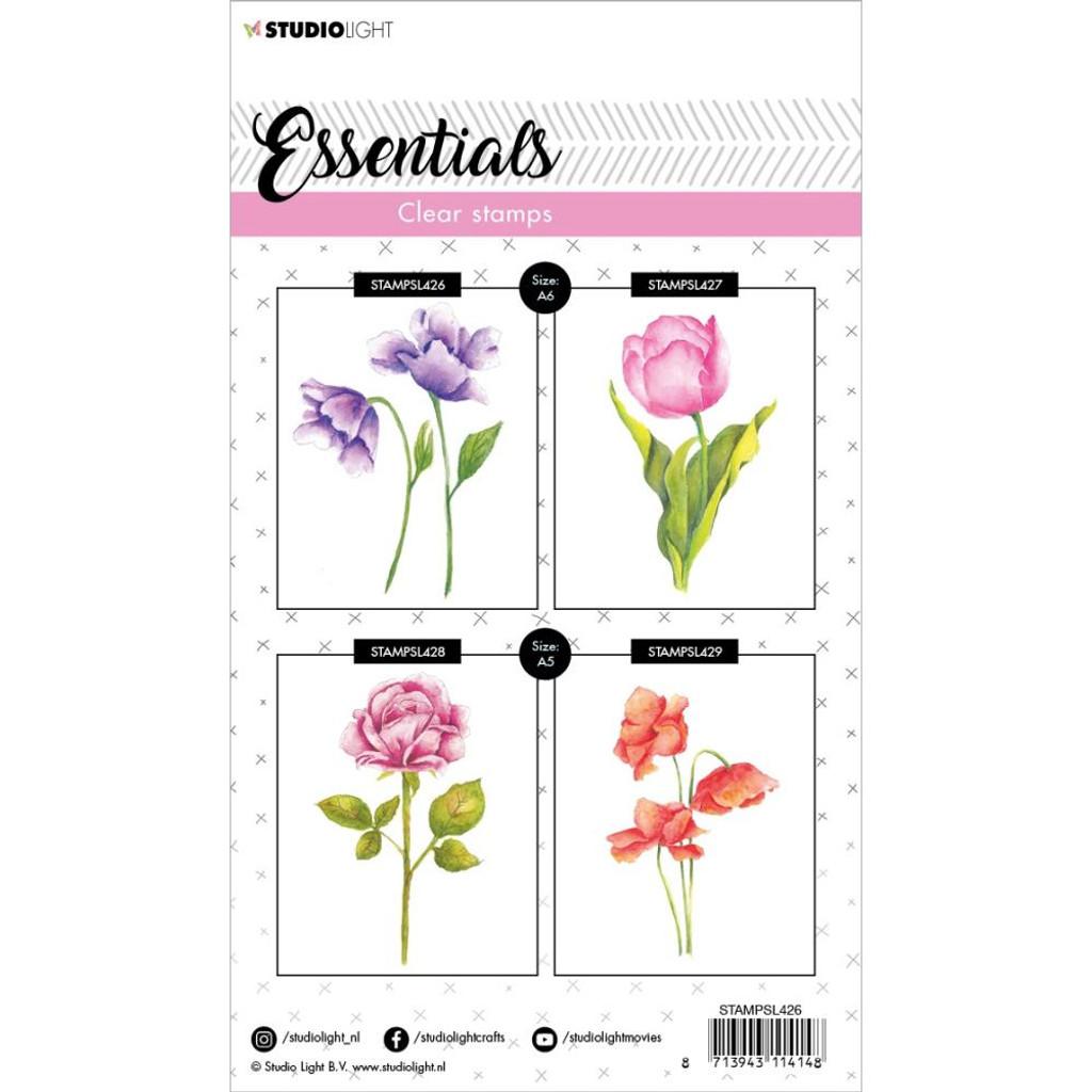 Studio Light - Essentials A6 Stamps - Cling Stamp - Floral #426 (STAMP426)