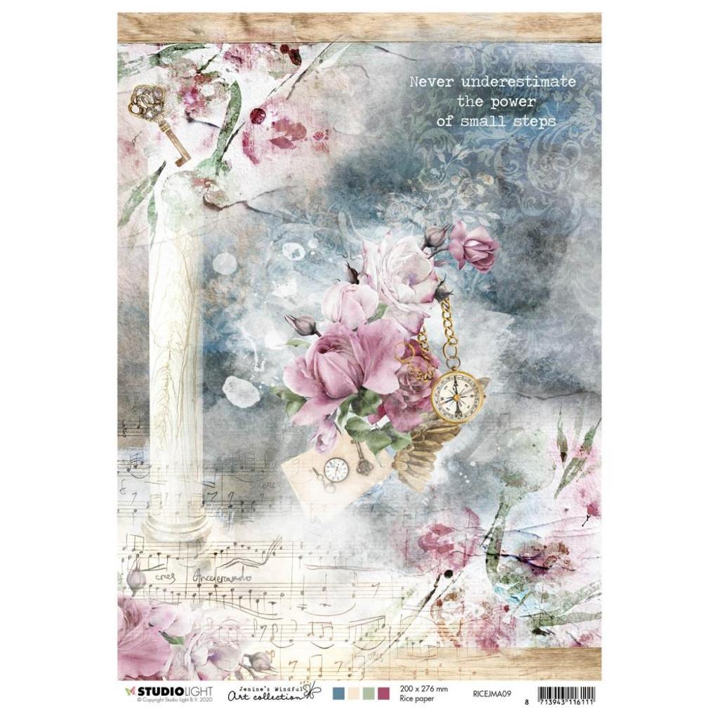 Studio Light Jenine's Mindful Art - Decoupage Rice Paper A4 - NR. 09 (RICEM09)