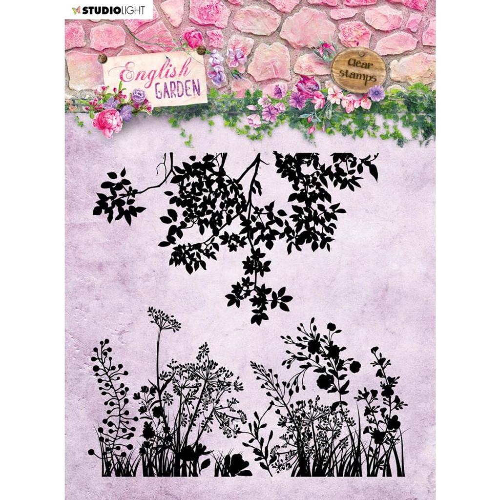 Studio Light - English Garden - Background Stamp - Greenery & Floral Sprays (STAMP435)