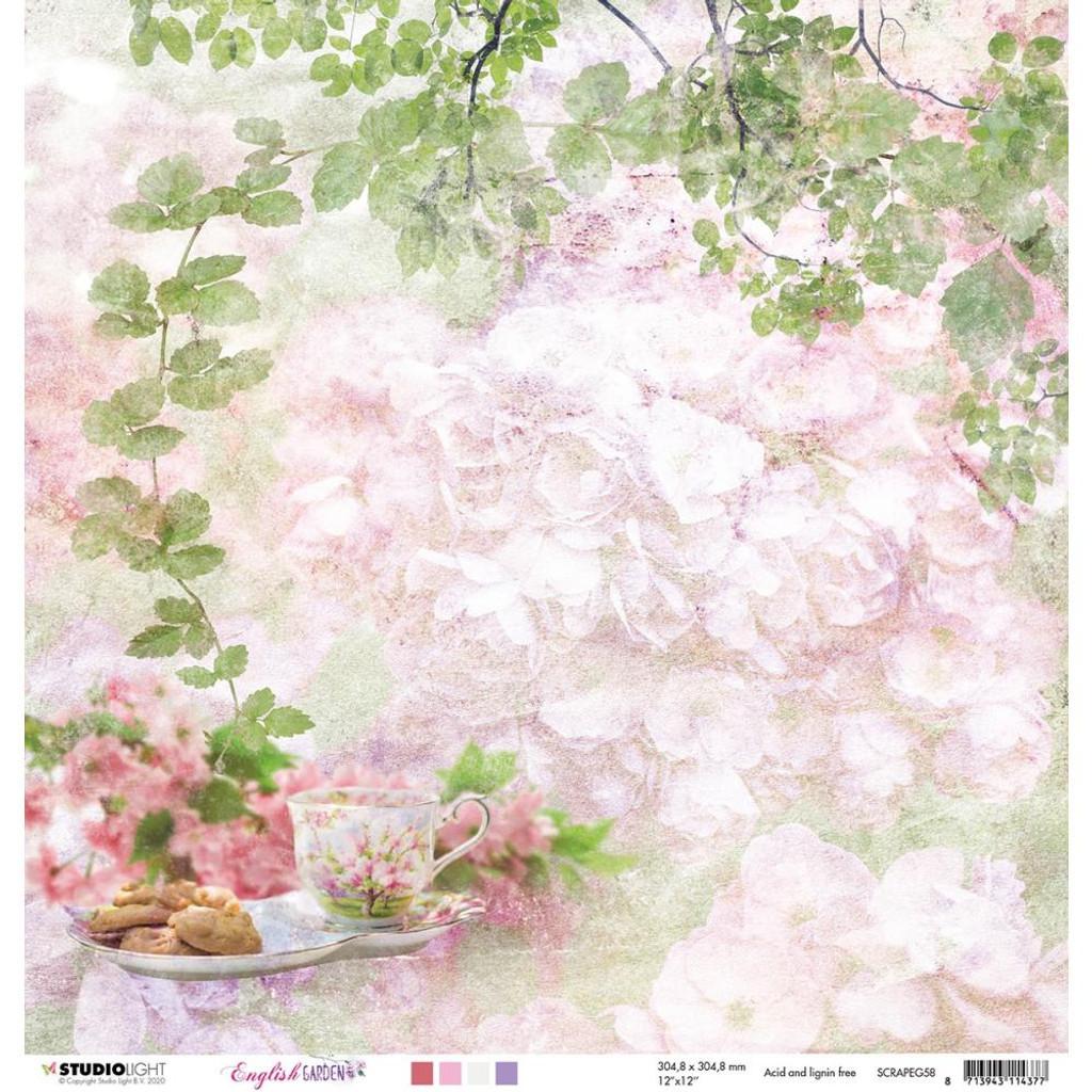 "Studio Light - Double-Sided Cardstock 12""X12"" - English Garden - NR. 58 (RAPEG58)"