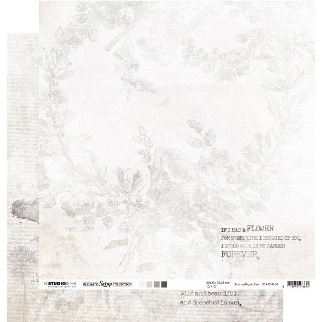 "Studio Light - Double-Sided Cardstock 12""X12"" - Ultimate Scrap Collection - NR. 64 (RAPUS64)"