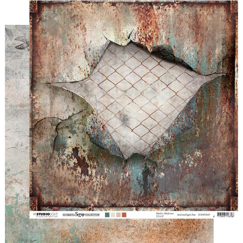 "Studio Light - Double-Sided Cardstock 12""X12"" - Ultimate Scrap Collection - NR. 69 (RAPUS69)"