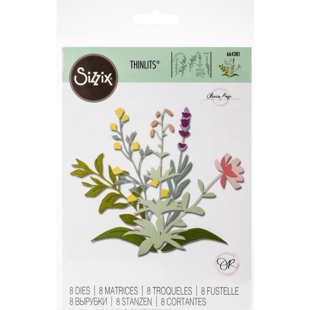 Sizzix - Thinlits Die Set 12Pkg - Spring Stems (664381)