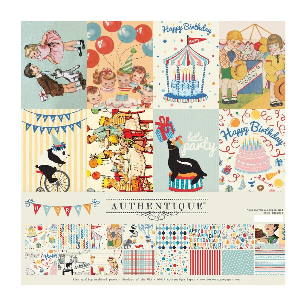 Authentique - Collection Kit 12x12 - Hooray (HRY12 - 007)