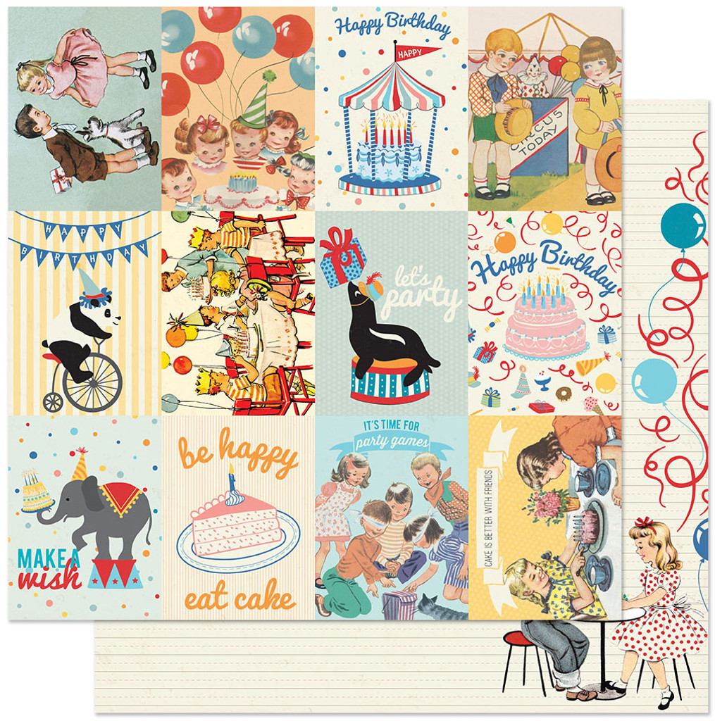 Authentique - Double Sided Cardstock 12x12 - Hooray - Kids Cut Aparts (625352)