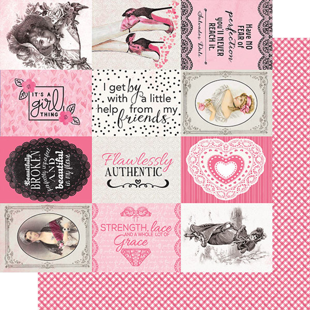Authentique - Double Sided Cardstock Pad 6x6 24/Pkg - Flawless (FLA008)